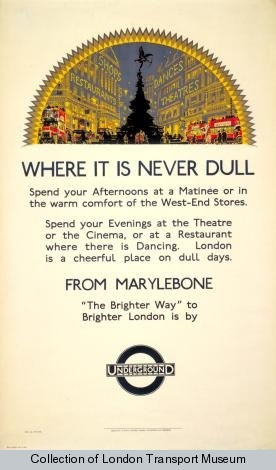 Vintage London Transport Posters courtesy of the London Transport Museum