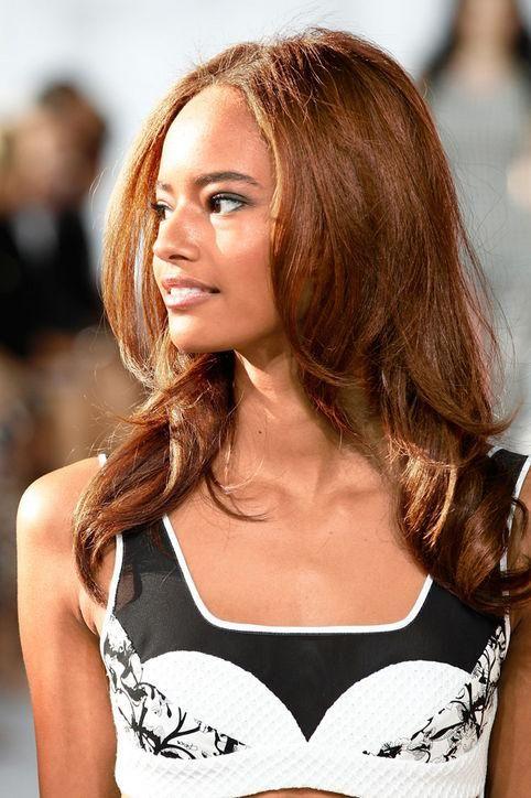 Malaika Firth's cinnamon hair color
