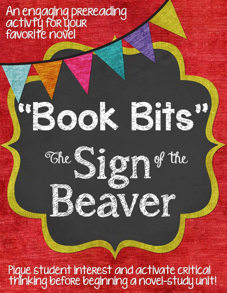 16 best sign of the beaver images on pinterest the beaver beavers book bits a fun pre reading activity for the sign of the beaver fandeluxe Gallery
