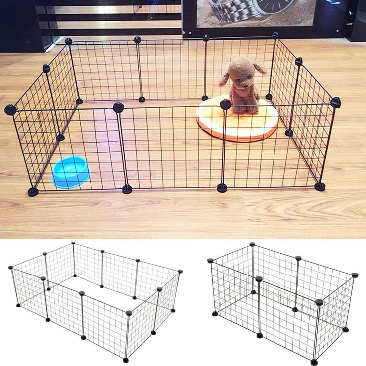 6/10 Foldable Panels Pet Dog Playpen Crate Fence Puppy Kennel Exercise Cage