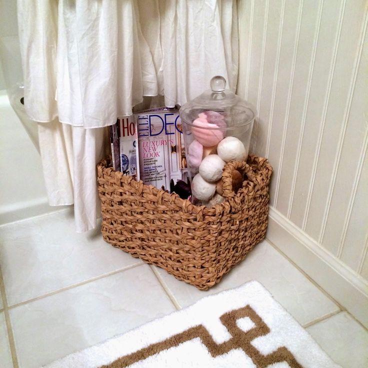Guest 1 2 Bathroom Ideas: 17 Best Ideas About Basket Bathroom Storage On Pinterest