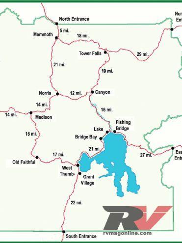 yellowstone National Park yellowstone Map