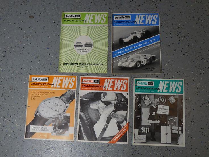 1967-68 Ford Lincoln Mercury Lot of 5 Dealer Merchandising Magazines 05-12 1967 #Autolite