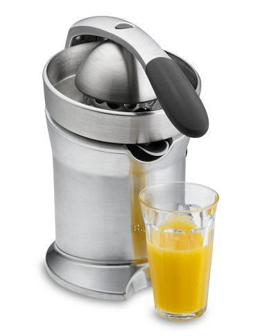 An amazing citrus juicer. With a gentle press, your fresh squeezed juice is ready!! great machine.