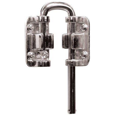Defender Security S 4376 13 16 Inch Sliding Door Loop Lock Nickel