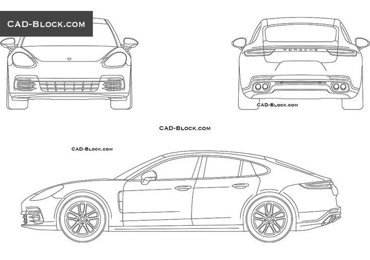 Porsche Panamera (2016) CAD drawings