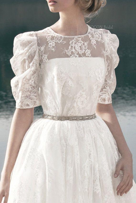 Designer Brautkleid im Vintage-Stil-romantische von CoconBridal