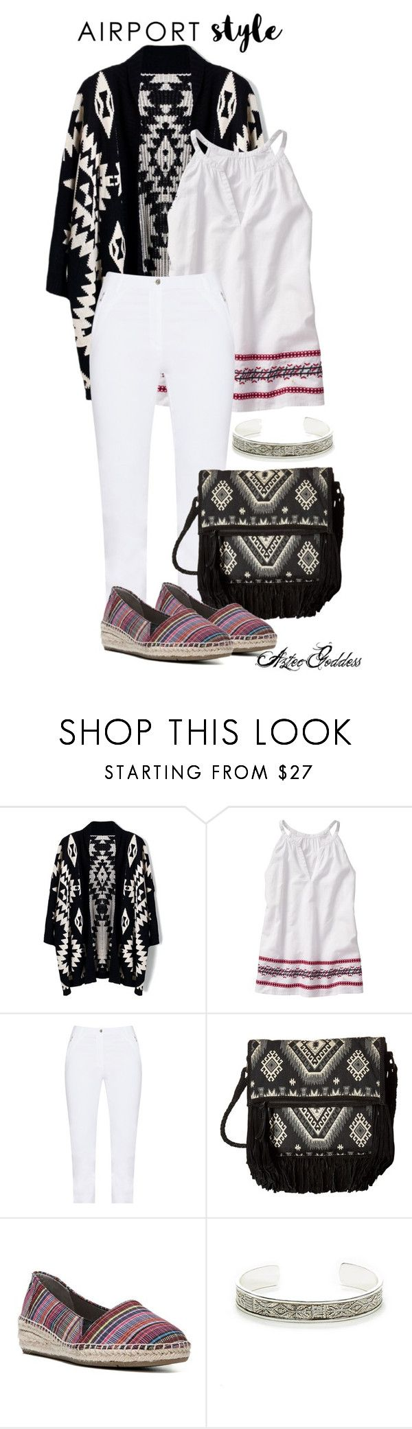 """Aztec Airport Style"" by aztecgoddess-quetzal ❤ liked on Polyvore featuring Chicwish, Jennifer Bryde, Scully, LifeStride and Sole Society"
