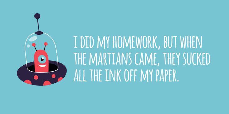 14 Hilarious Homework Excuses | Edutopia