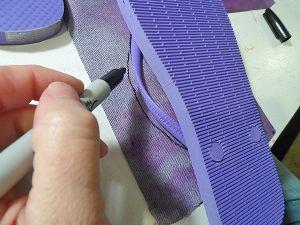 Denim and Lace Flip Flops