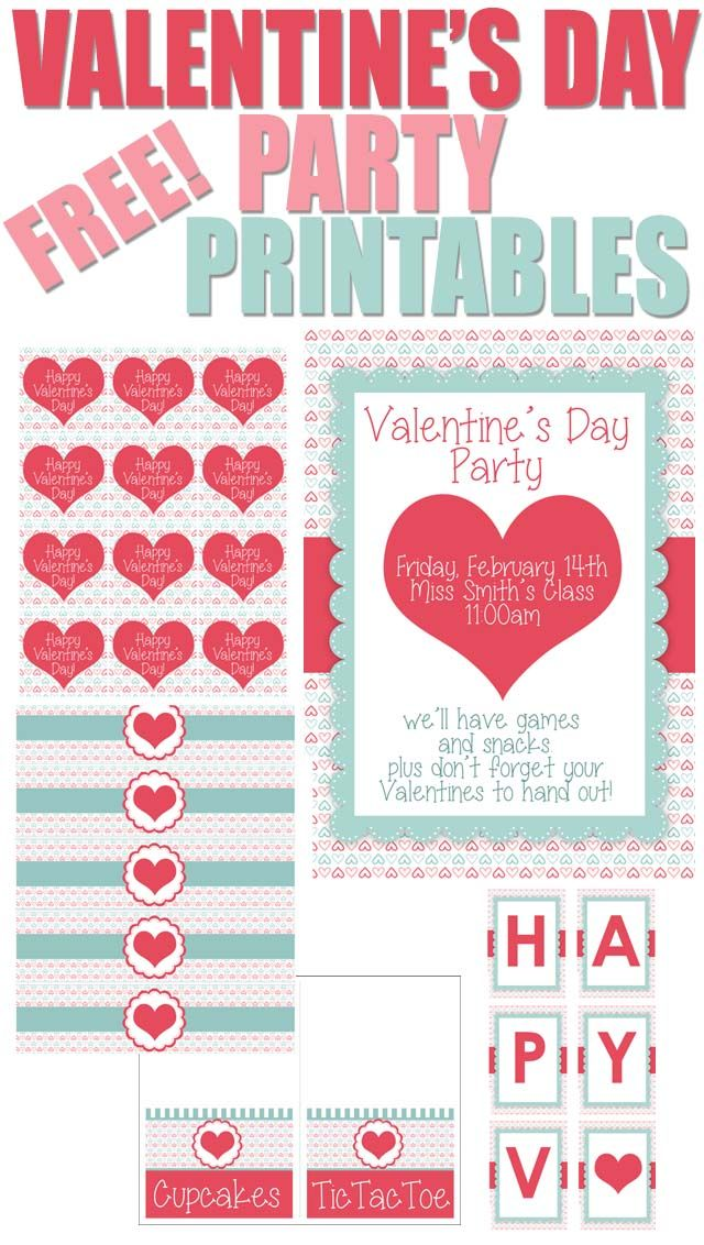FREE Valentine's Day Party Printables!