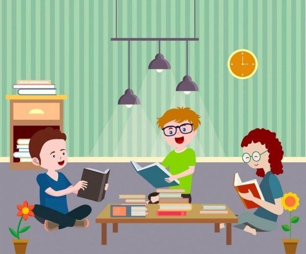 Kartun Anak Berdoa Png Di 2021 Kartun Membaca Buku Membaca