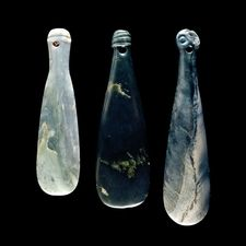 Nephrite clubs (mere pounamu). Maori, possibly 18th or 19th century AD From New Zealand. Maori weapons, and short clubs (mere) in particular, were made in several forms ideal for close range fighting.