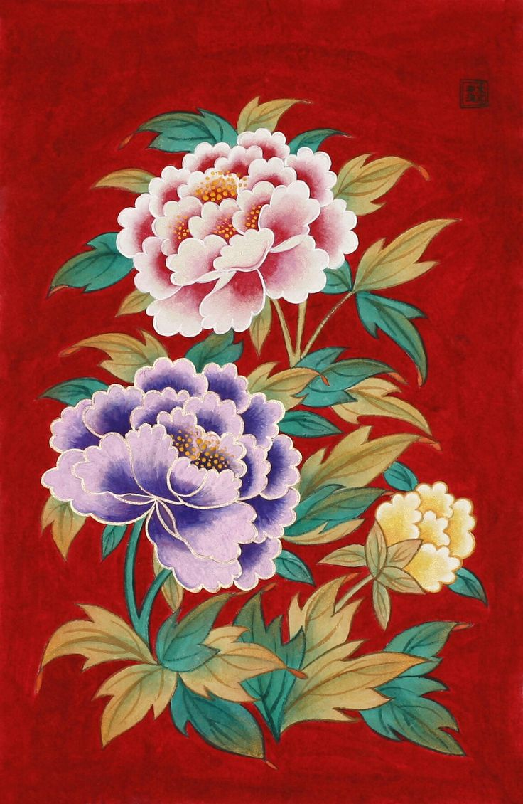 민화. Korea folk painting.   Folk art works on Lee Joungjoo #민화