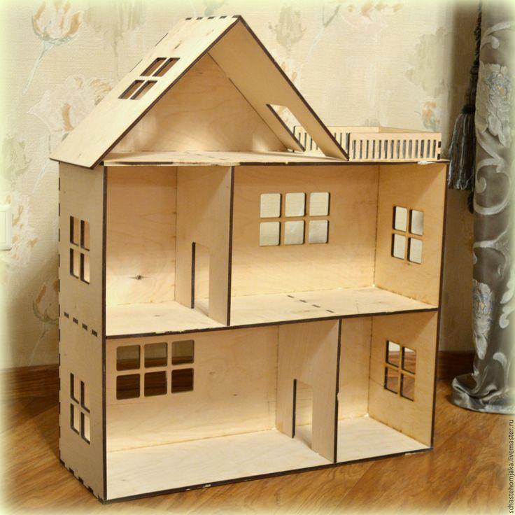 Купить Кукольный домик. Большой. Деревянный - домик, дом, кукольный дом, игрушечный дом