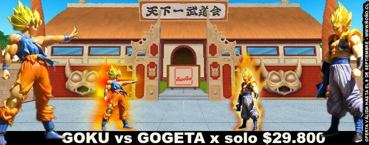 OFERTA: figuras de Goku y Gogeta