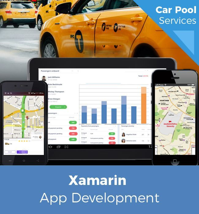Xamarin Powered Mobile App For Car Pool Services In 2019 App
