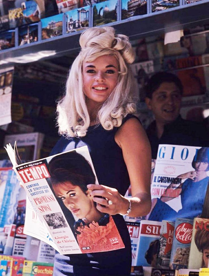Jayne Mansfield and a hairdo.                                                                                                                                                                                 More