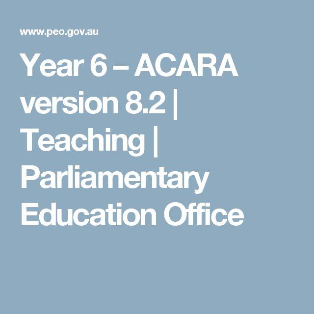 Year 6 – ACARA version 8.2   Teaching   Parliamentary Education Office