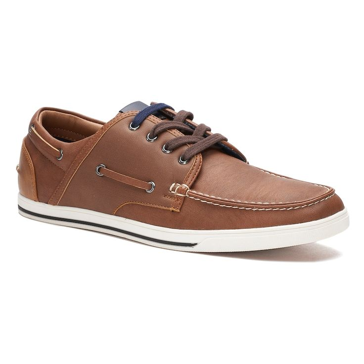 SONOMA Goods for Life™ Dewey Men's Boat Shoes, Size: 10.5 Wide, Lt Brown