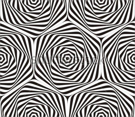 Kesintisiz geometrik desen siyah ve beyaz.