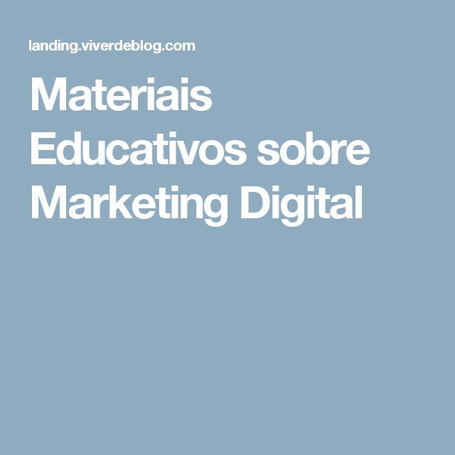 Materiais Educativos sobre Marketing Digital