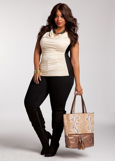 cream and black. Curvy is the new black.
