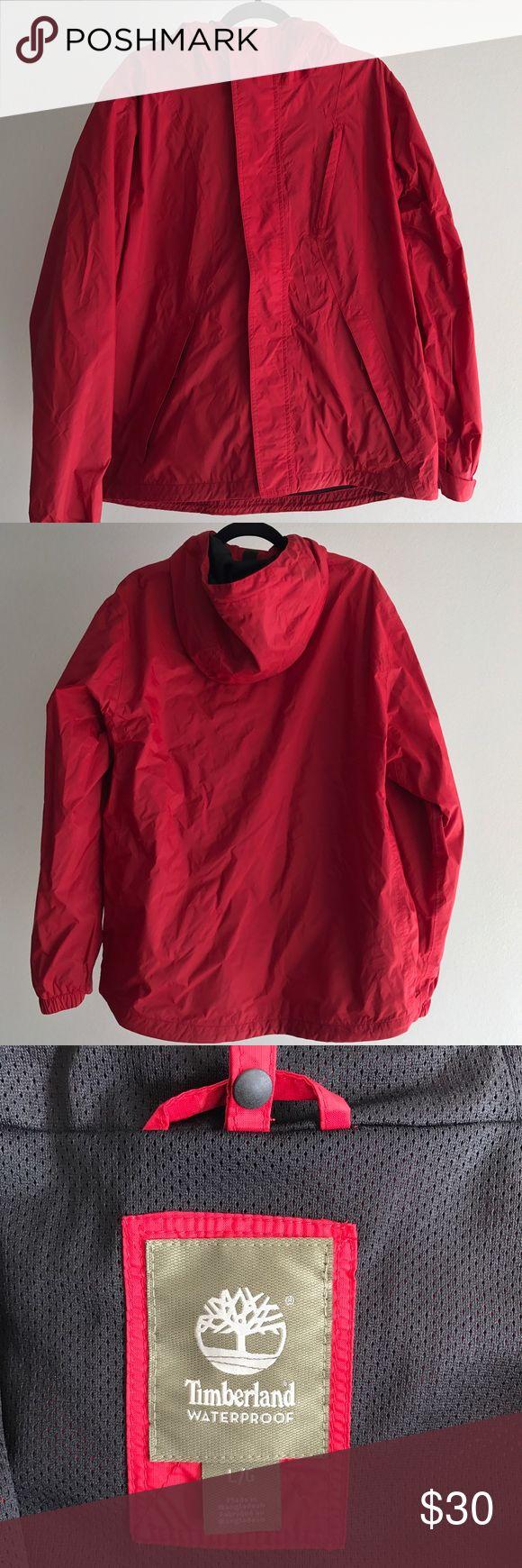Timberland Men's Rain Jacket Red. Lightweight, rain jacket Timberland Jackets & Coats Raincoats
