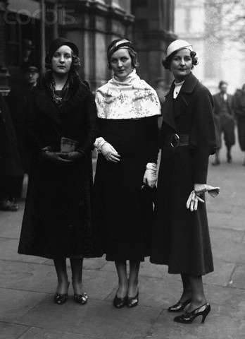Unity, Diana & Nancy Mitford in the thirties