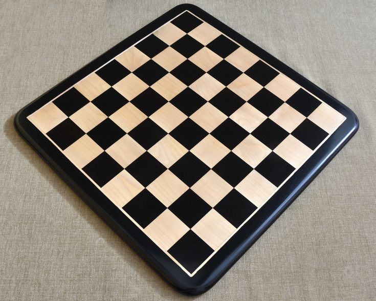 Buy Solid Wooden Chess Board in Ebony Wood Online