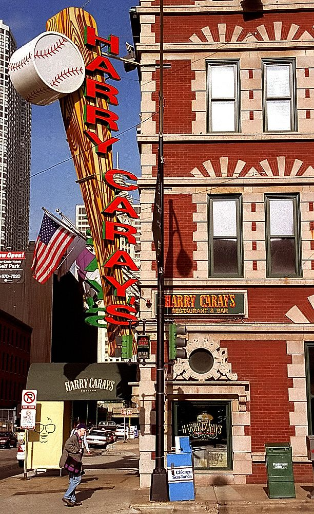 """'Chicago - Harry Caray's Restaurant """"Holy Cow""""' by David Paul Ohmer on Flickr - This is Harry Caray's Restaurant and Bar, with its iconic neon sign, that is located in Chicago, Illinois."""