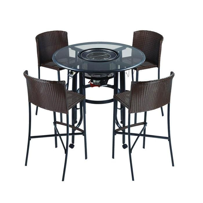 TableQ Bar Grilling With 4 Stools