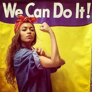 Beyoncé as Rosie The Riveter! Happy International Women's Day ladies. We've come a long way, but we still have a ways to go. #beyonce