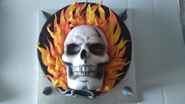 Ghost Rider Cake Decorations