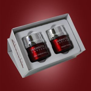 Dermastir Classic gift - Duo pack - gift pack, airless jar, day cream, night cream, sun protection cream, day creams, skin care creams, caviar for skin, anti aging skin creams, top face care products, best night cream, caviar for skin, anti aging skin creams, best night cream, made in France. Buy now on altacare.com