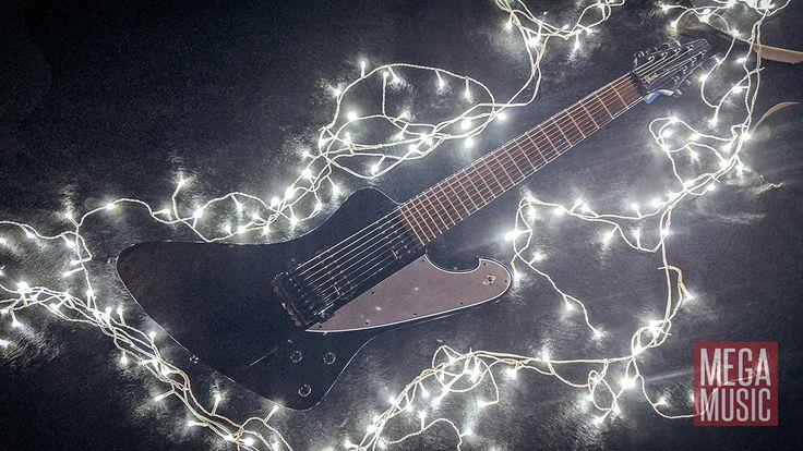 Ibanez FTM33 8-string Fredrik Thordendal of Meshuggah signature guitar in Weathered Black. #8string #eightstring #meshuggah #fredrikthordendal #ibanez #ibanezguitars #8stringguitar #eightstringguitar #guitar #electricguitar #megamusic #megamusicmyaree