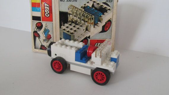 Rare 1968 Lego Jeep Lego Model Maker 330 210 Lego Jeep Samsonite lego For Sale by ReVintageLannie