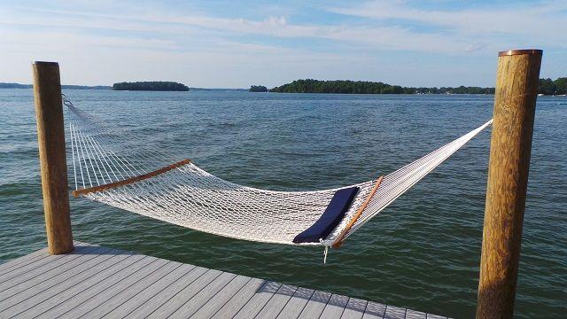 Image result for dock hammock