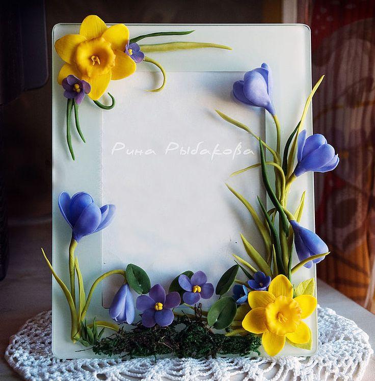 Купить Цветочная рамка для фото - рамка, рамка для фото, рамка для фотографии, цветы