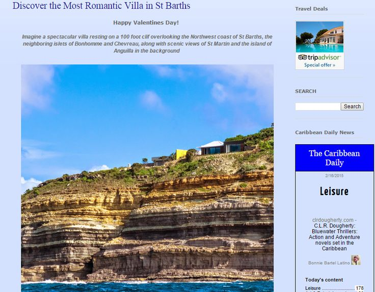 Discover the Most Romantic Villa in St. Barths by Travel 2 the Caribbean.  Thank