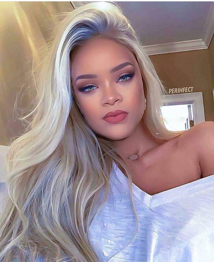 Rihanna blond | HAIR STYLE de 2019 | Rihanna cabelos, Sobrancelhas loiras e maquiagem Rihanna