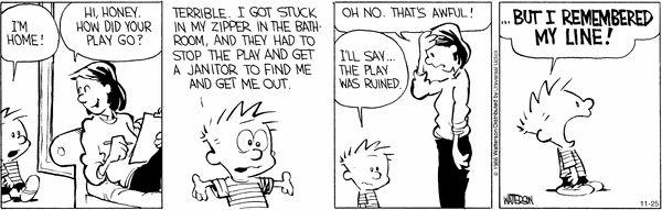 Calvin & Hobbes for November 25 2016
