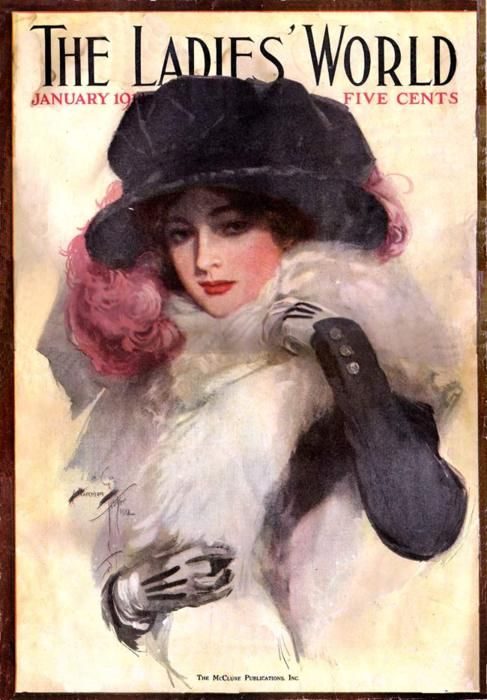 .: Magazine Covers, Art Harrison Fisher, Fisher Art, Art 1877, Victorian Ladies, Fashion Hats, Vintage Magazines, Magazines Covers, Covers Art