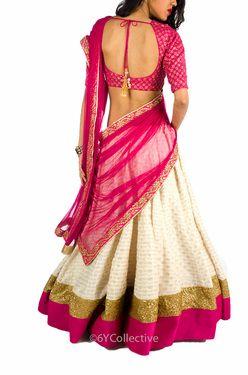 white and pink saree :)