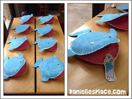 Jonah and the Whale Paper Plate Craft from www.daniellesplace.com …