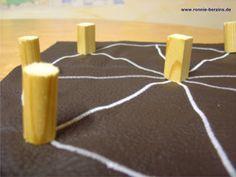 kreative kiste: Mühle Spiel, römisches Rad
