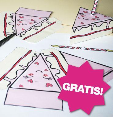 #DIY knutsel-taart #Printable www.leukigheidjes.nl www.facebook.com/leukigheidjes