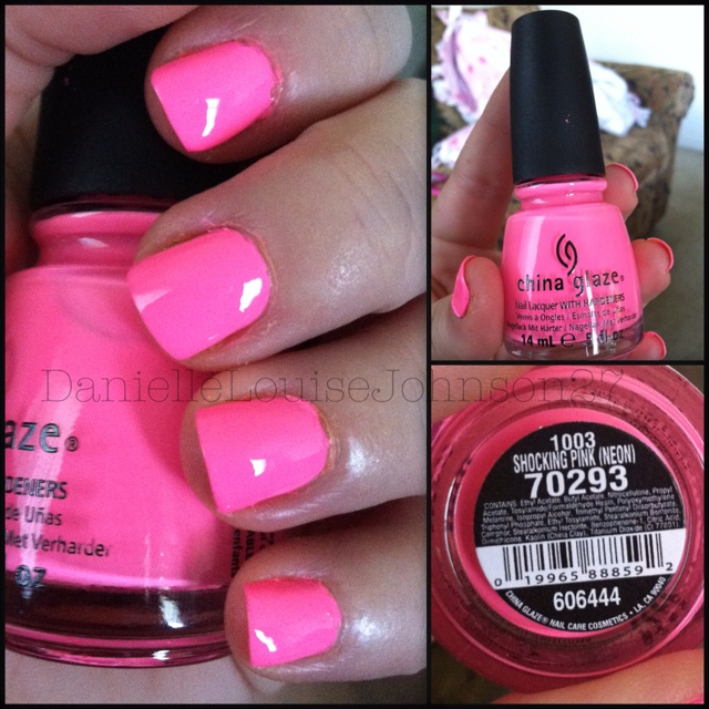Shocking Pink (neon) by China Glaze - seriously bright bright neon! I love it! <3