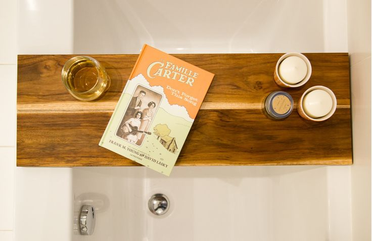 DIY Tablette pour le bain - DIY bathtub caddy