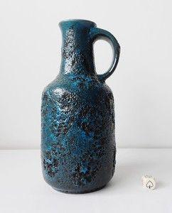 Mid Century Modernist Gräflich Fat Lava Vase